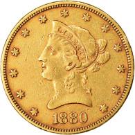 Monnaie, États-Unis, Coronet Head, $10, Eagle, 1880, U.S. Mint, Philadelphie - L. Gold