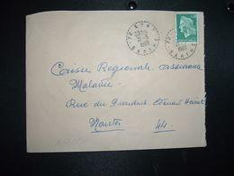 LETTRE TP M. DE CHEFFER 0,30 OBL. Tiretée 21-5 1969 72 SPAY SARTHE - Marcophilie (Lettres)