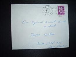 LETTRE TP M. DE CHEFFER 0,30 OBL. Tiretée 14-3 1968 72 SPAY SARTHE - Marcophilie (Lettres)
