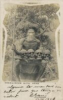 Real Photo Igorot Head Hunter With Skull Of Enemies . Chasseurs De Tete . Crane - Philippines