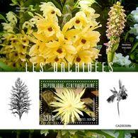 C A R - 2020 - Orchids - Perf Souv Sheet - M N H - Centraal-Afrikaanse Republiek