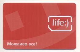 Unused SIM Chip GSM Phone Card Life:) UKRAINE - Ukraine