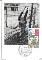 Carte Maximum Fdc, France, Libération Des Camps De Concentration, 27/9/75 Besançon, N°1853 - 1970-79