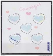Bloc F5026 Coeur Saint Valentin 2016 De Courrèges 5 Timbres à 0.70€ Différents 5024 5025 5026 5027 5028, Type Gommé - Blocs & Feuillets