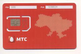 Unused SIM Chip GSM Phone Card MTS Map UKRAINE - Ukraine