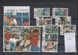 Nevis Michel Cat.No. Mnh/** 769/776 + Sheet 67/68 Soccer - St.Kitts And Nevis ( 1983-...)