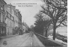 CONFLANS   L OISE QUAI DE LA REPUBLIQUE - Conflans Saint Honorine