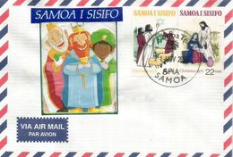 ILES SAMOA.  Les Rois Mages , Lettre D'Apia, Samoa - Samoa