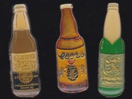 66240-Lot De 3 Pin's.. Bière.boisson.alcool. - Bierpins