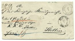 PREUSSEN DKS Stralsund Packk. Auf Paketbegleit-Brief 19.7. Um 1840 Nach Stettin - Deutschland