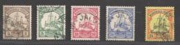 Deutsche Kolonien Marshall Inseln Michel Nummer 13-17 Gestempelt - Kolonie: Marshall-Inseln