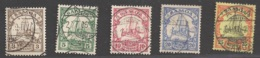 Deutsche Kolonien Samoa Michel Nummer 7-11 Gestempelt - Kolonie: Samoa