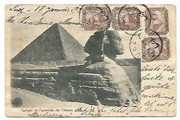 Le Sphynx Et La Pyramide De Cheops - Kairo