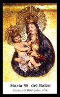 Santino/holycard: MARIA SS. DEL BALZO - Bisacquino - Patrona  - M - PR - Mm. 63 X 108 - Religion & Esotérisme
