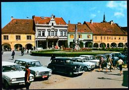 Croatia Slavonska Pozega 1971 / Square, Monument, Cars - Croatia