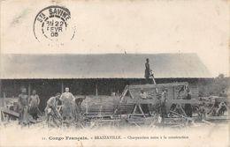 Brazzaville Charpentiers Scieurs De Long Scierie - Brazzaville
