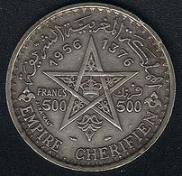 Marokko, 500 Francs 1956, Silber - Maroc