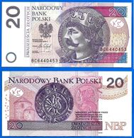 Pologne 20 Zlotych 2016 Prefix BC Neuf Uncirculated Que Prix + Port Poland Paypal Bitcoin  OK! - Polonia