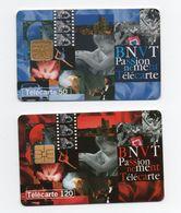 """2 Télécartes De 50 Et 120 Unités """"BNVT Passionnément Télécarte"""" - Telefonkarten"""