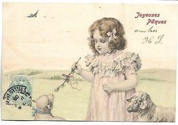 Enfant Et Moutons - Joyeuses Pâques - Illustrateur MM VIENNE - 136 - Vienne