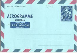 Norway Stationary AEROgramme    90 øre Norway - Norwegen