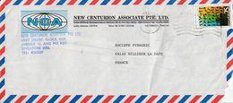SINGAPOUR SEUL SUR LETTRE POUR LA FRANCE 1981 - Singapur (1959-...)