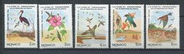 269 - MONACO 1991 - Yvert 1754/58 - Fleur Oiseau  - Neuf ** (MNH) Sans Trace De Charniere - Monaco