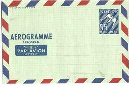 Norway Stationary AEROgramme    55 øre Norway - Norwegen
