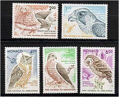 269 - MONACO 1993 - Yvert 1855/59 - Oiseaux Rapaces Du Mercantour - Neuf ** (MNH) Sans Trace De Charniere - Monaco