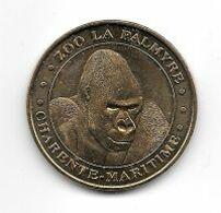 Médaille Touristique, Ville  LES  MATHES, Monnaie De Paris  2007, Animal  GORILLE, ZOO  LA  PALMYRE  ( 17 )  Cote 20 € - Monnaie De Paris