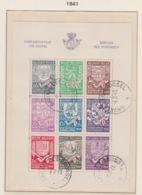 BELGIUM USED COB BL 10 CHEFS LIEUX DE PROVINCE - Bloques 1924 – 1960