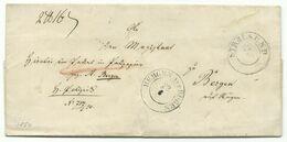 PREUSSEN DKS Stralsund Auf Paketbegleit-Brief 22.6.1850 Nach Bergen Und DKS Bergen - Preussen