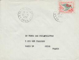 ALGERIE LETTRE DE LA SENIA AEROPORT POUR LA FRANCE 1964 - Algeria (1962-...)