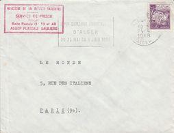ALGERIE LETTRE DE ALGER POUR LA FRANCE 1968 - Algeria (1962-...)