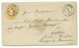 PREUSSEN DKS Stralsund Auf GA 3 Sgr 9.8. Um 1855 Nach Goslar - Preussen