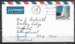 USED AIR MAIL COVER NEW ZEALAND TO ENGLAND - Unclassified