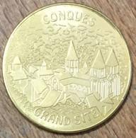 12 CONQUES GRAND CITE MEDAILLE SOUVENIR MARTINEAU NATIONAL TOKENS JETON TOURISTIQUE MEDALS COINS - Turistici