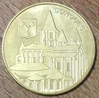 12 CONQUES MEDAILLE SOUVENIR MARTINEAU NATIONAL TOKENS JETON TOURISTIQUE MEDALS COINS - Turistici