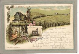 CPA - Bei HERBORN (Allemagne-Hesse) - Gruss-lithographique Vom Forsthaus Neuhaus - 1900 - Herborn