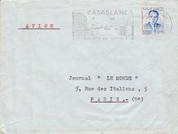 MAROC LETTRE DE CASABLANCA POUR LA FRANCE 1958 - Marocco (1956-...)