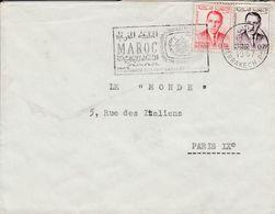 MAROC LETTRE DE CASABLANCA POUR LA FRANCE 1957 - Marocco (1956-...)