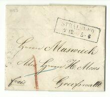 PREUSSEN Ka2 Stralsund Auf Kleinem Brief Mit Vollem Inhalt 2.12.1853 Nach Greifswald - Preussen