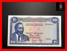 KENYA 20 Shilingi  1.7.1967  P. 3 B  Rare  VF - Kenya