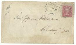 NDP DKS Stralsund Bahnhof Auf Brief 1 Sgr 12.12.1868 Nach Naumburg A. Saale - Norddeutscher Postbezirk