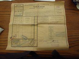 Lettre De Voiture De La S.N.C.F. Français Oblitérée Du C.Fer D'Alsace Et De Lorraine AUDUN-LE-TICHE En 1934 - Luxembourg