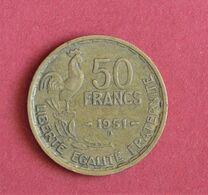 50 Frs - GUIRAUD -1951B - - M. 50 Francs