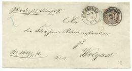 NDP DKS Stralsund Auf Dienst-Brief-Vorderseite 2 Groschen 26.7.1871 Nach Wolgast - Norddeutscher Postbezirk