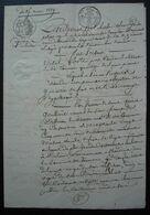 Tonneins  1819 (Lot-et-Garonne) Vente Par Vital Lotte Ou Loste Père, Cordier, En Faveur De Anne Goullard, Veuve Delrieu - Manuscrits