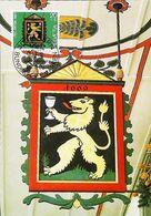 """Enseigne Auberge Suisse 1669  """"GASTHOF LOWEN"""" Bundesfeiermarken Pro-Patria Wirtshausschilder 1982  -  BERN - Restaurants"""