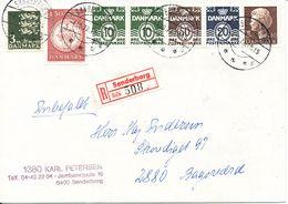 Denmark Registered Cover Sönderborg 4-10-1979 With A 5 Stripe From Booklet (light Bended Cover) - Denmark